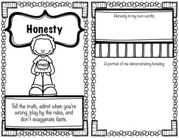 Character Education Workbook/Worksheets for Elementary