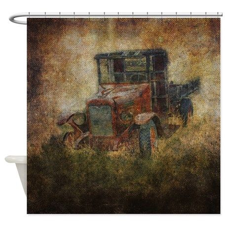Old Truck Shower Curtain By Heathergreen Old Trucks Old Things