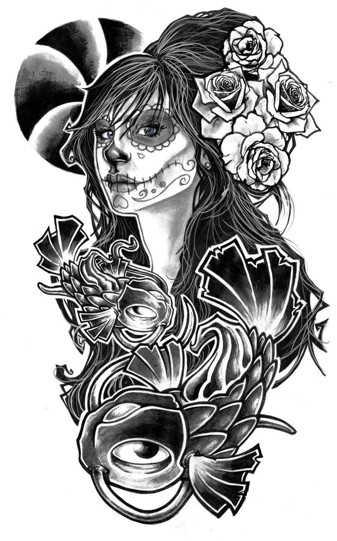 Sugar Skull Mask Tattoo Gas Mask Tattoo Tattoo Designs