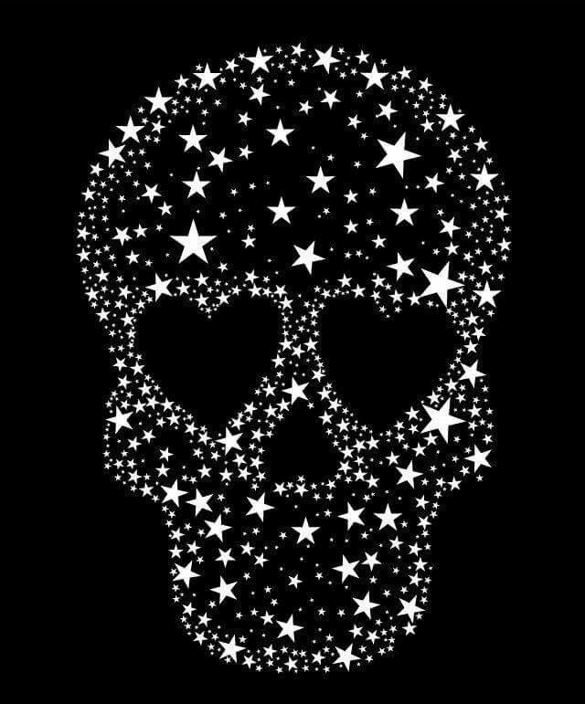Skull Made Of Stars I Love Skulls Skull Wallpaper Iphone Skull