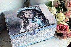 Krabičky - Shabby chic krabica šperkovnica - 3691472