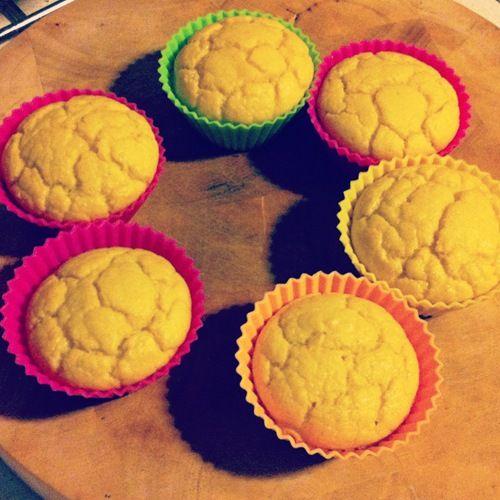 Muffins com farinha de côco