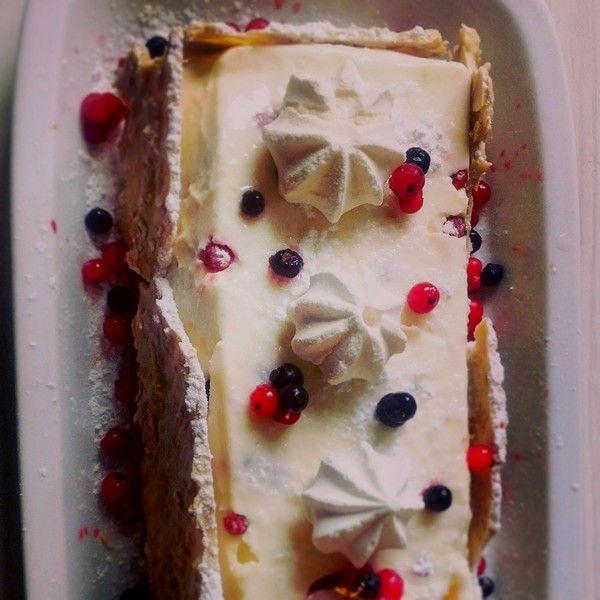 Entremets aux fruits rouges façon cheesecake