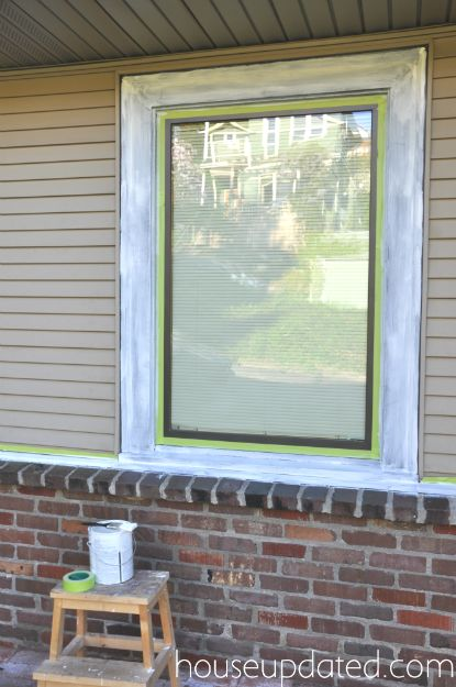 A Twofer How To Paint Brick And How To Paint Metal Window Trim Window Trim Exterior Painted Brick Exteriors Window Trim