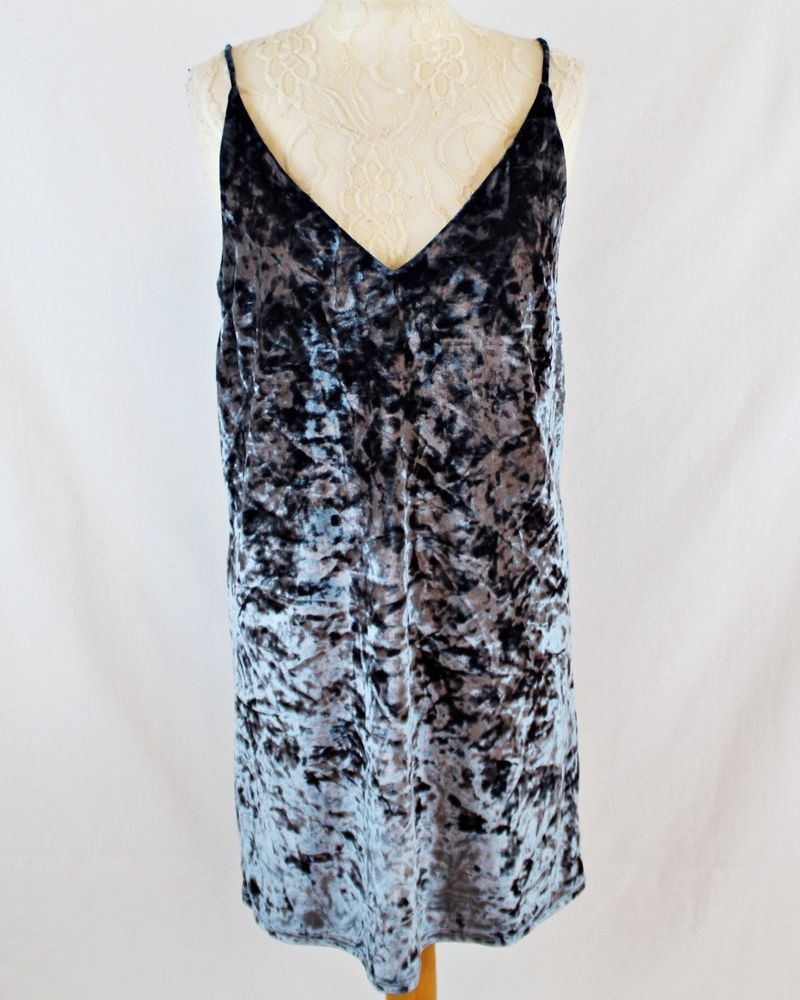 54e30232013 RIVER ISLAND Women Crushed Velvet Strappy Mini Dress 12 Teal Grey Party  Autumn  fashion  clothing  shoes  accessories  womensclothing  dresses (ebay  link)