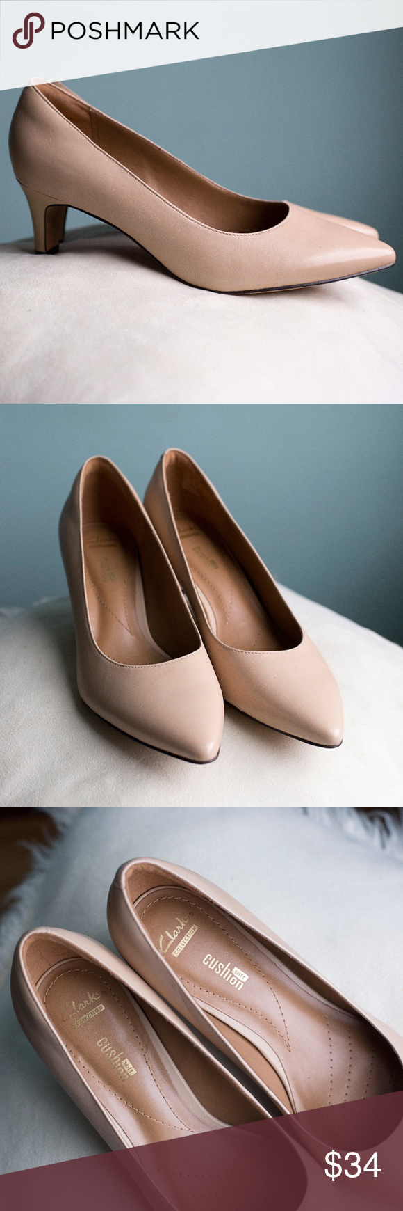 """4683ec38336 Clarks Crewso Wick Nude Pump Perfect nude pumps that are not too high but  not too short (2 1 4"""" heel) and are made by Clarks so you know they are ..."""