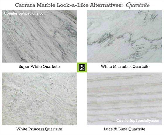 Which Granite Looks Like White Carrara Marble Countertops Countertop Colours Carrara Marble