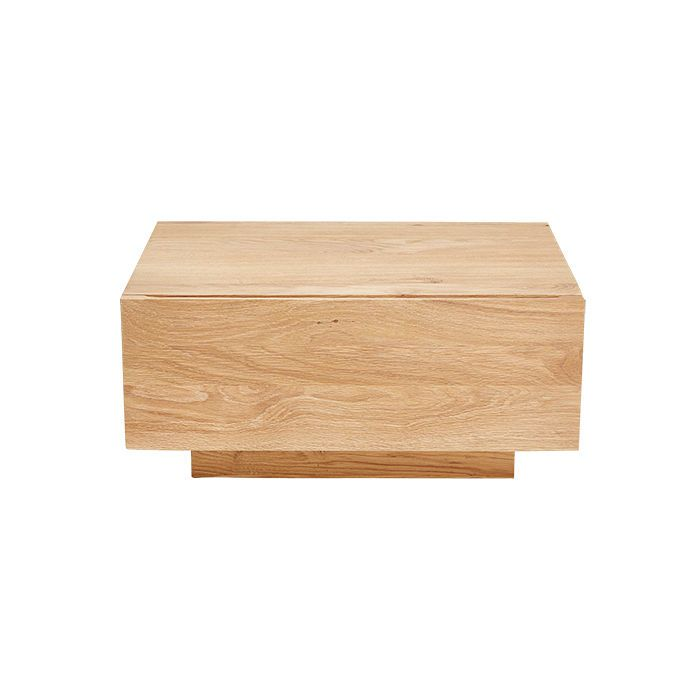Oak Low Nightstand By Terrain, $495 Low Slung Platform Beds Require An  Under