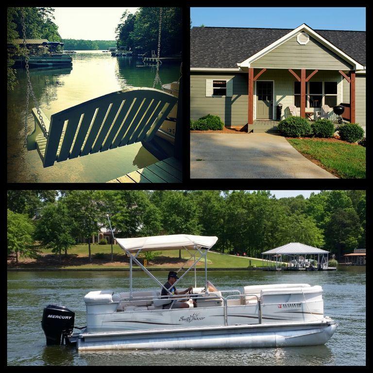 Beautiful lake house with pontoon boat available jet ski