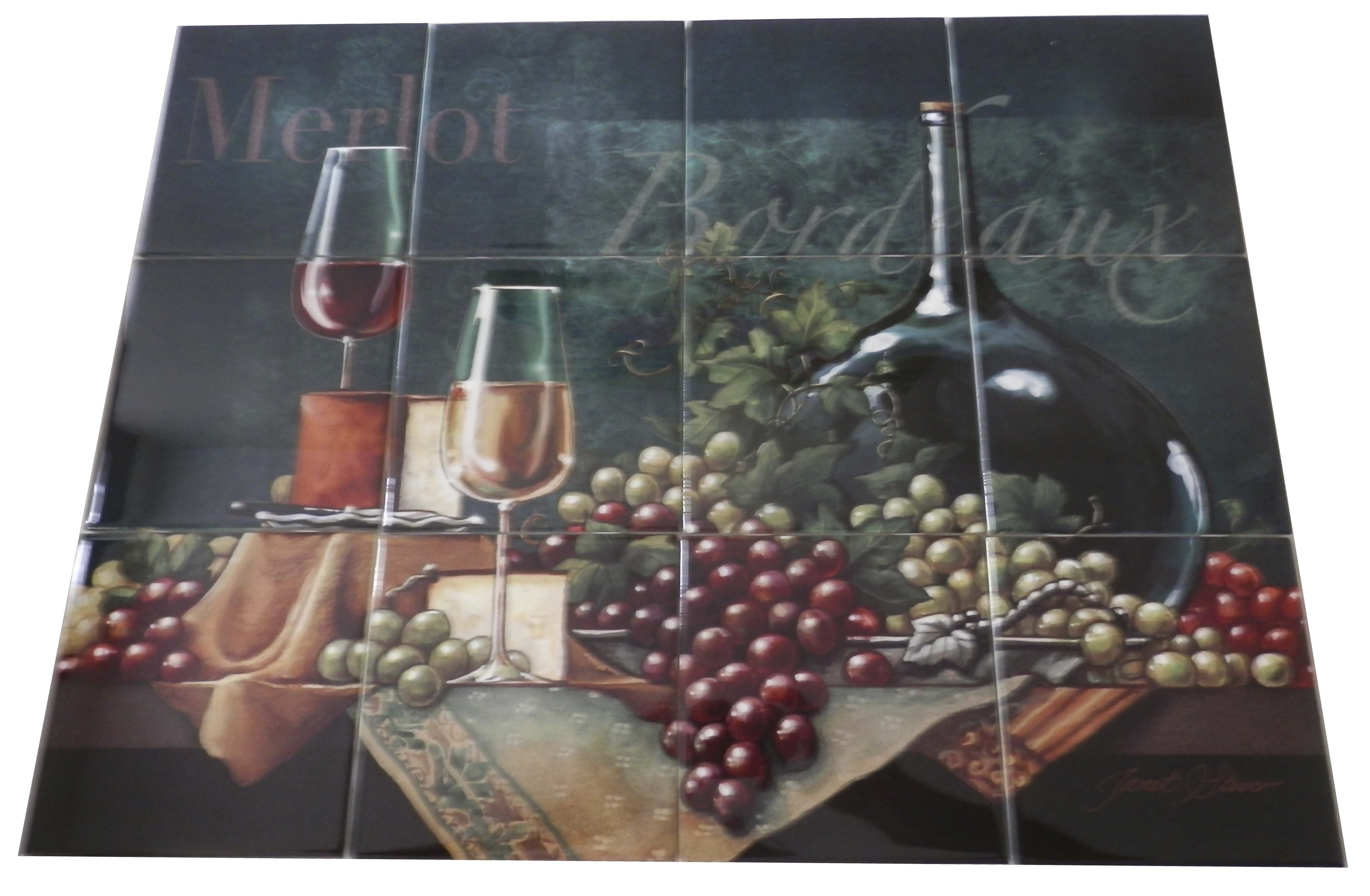 Decorative Wall Tile Murals Inspiration Bordeaux  Js  Tile Mural Our Decorative Tiles With Wine Are Design Ideas