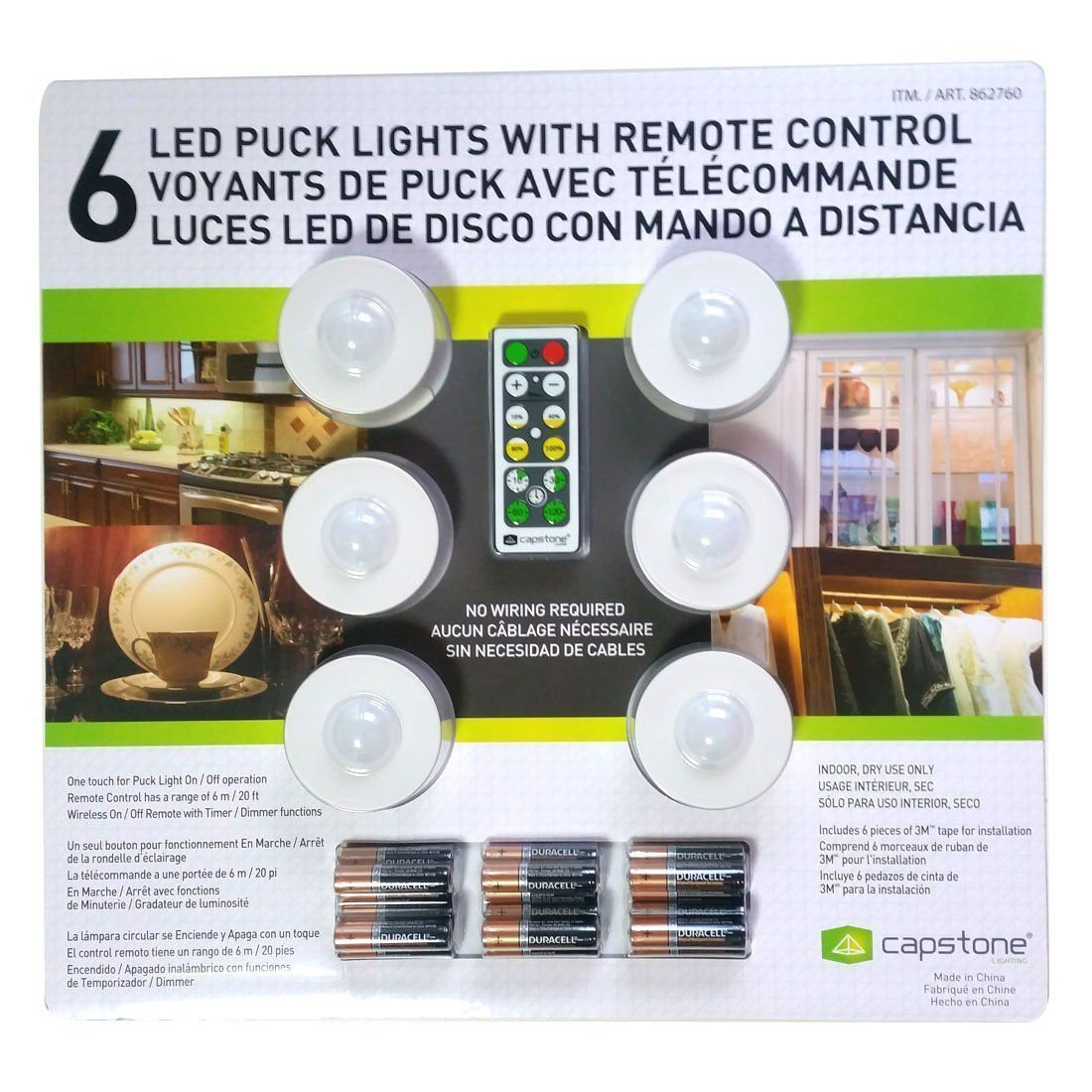 Capstone 6 Led Wireless Puck Lights With Remote Control