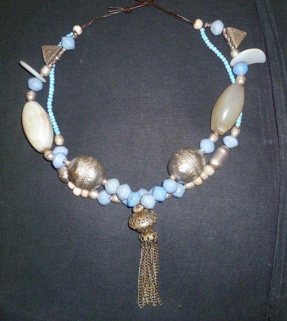 10 x África recyled vidrio Krobo dogon Beads