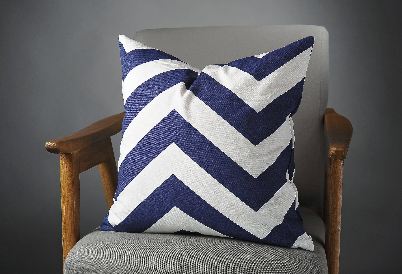 Navy Blue Pillow Navy Blue Cushion Navy Blue Pillow Cover Blue White Sofa Pillow Navy Blue Cushions Blue Pillows Navy Blue Pillows