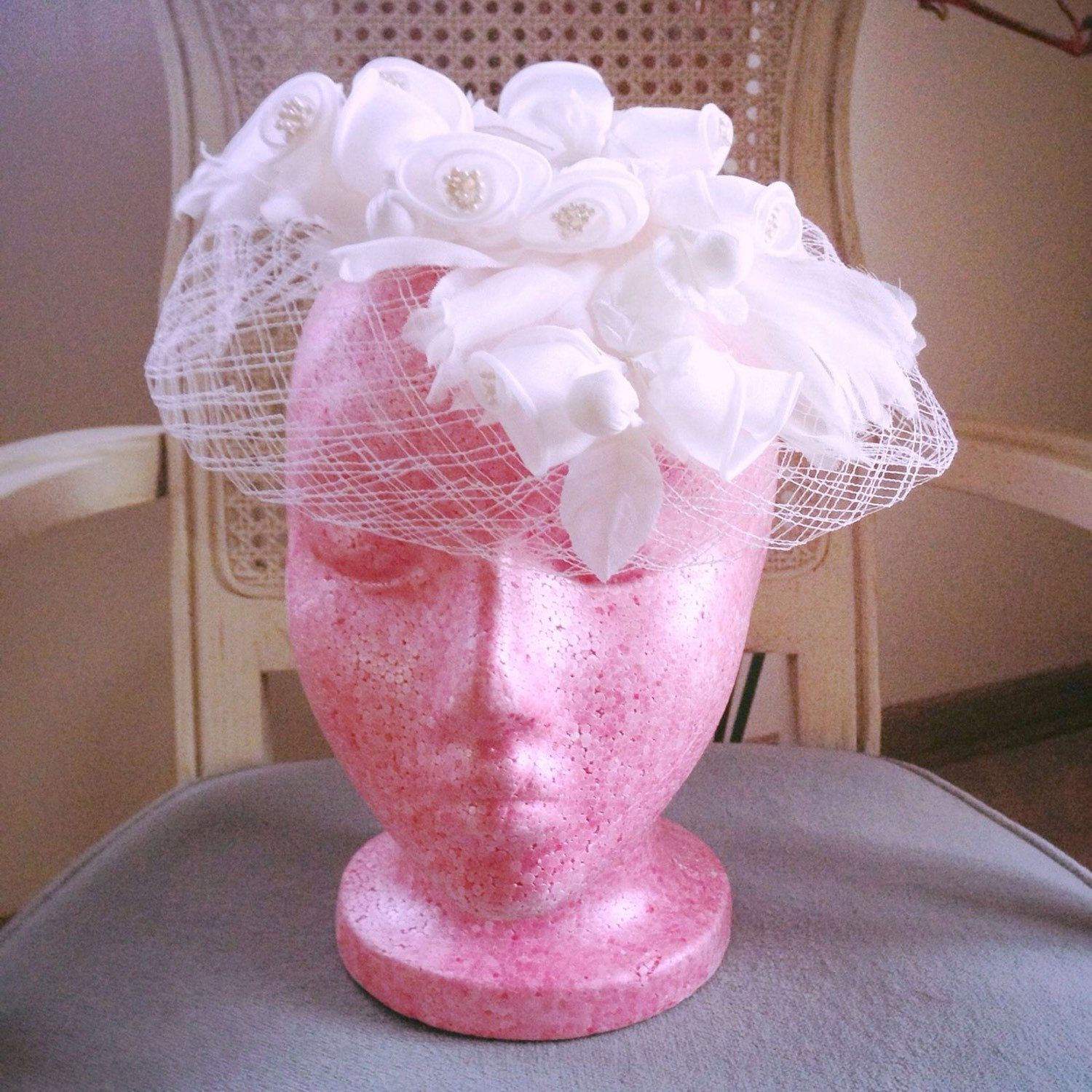 Sale on select items--like this 1940s birdcage net hat--at Green ...