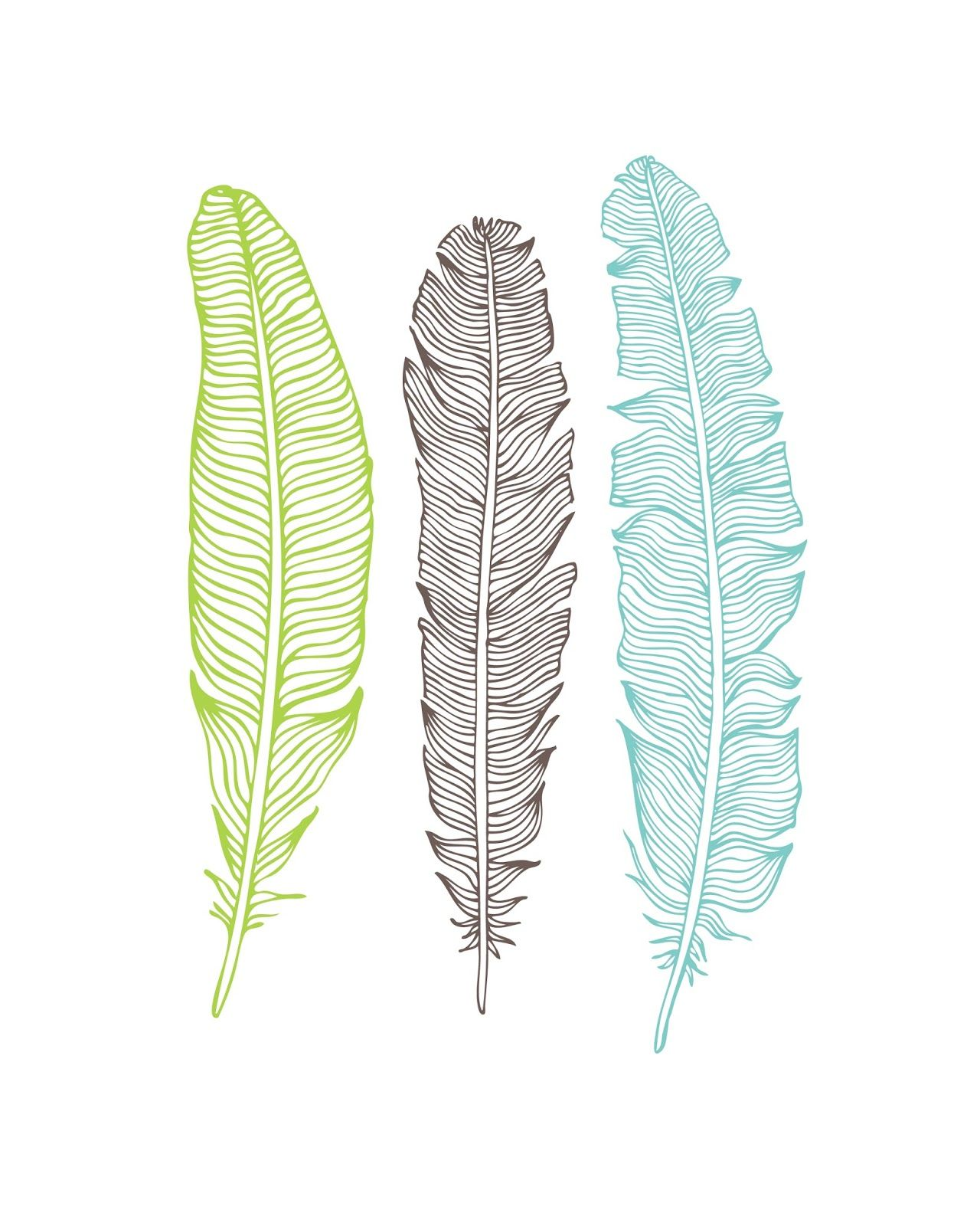 Oh so lovely free feather printables craft time for Laminas de decoracion