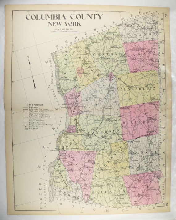 Map Of Columbia County Ny : columbia, county, Large, Columbia, County, County,