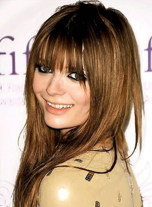 Straight Hairstyles With Bangs Glamorous Straight Long Hairstyles With Bangs  Layered Long Hairstyles