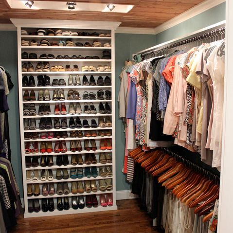 Closet with great built-ins, lots of storage