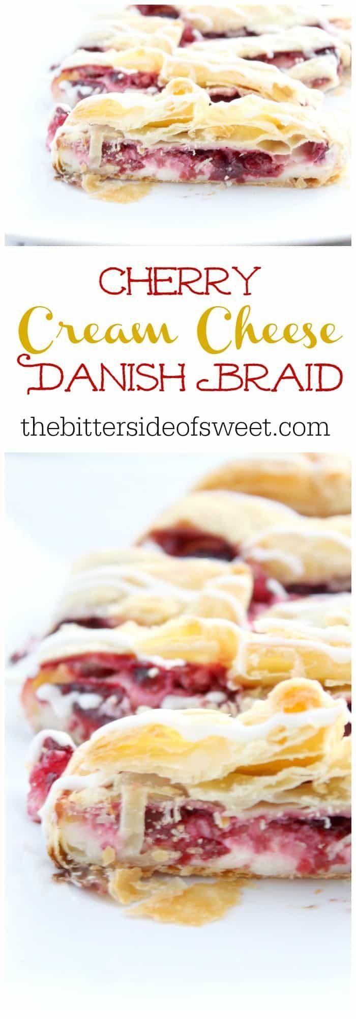 Kirschfrischkäse Danish Braid | Die bittere Seite von Sweet -