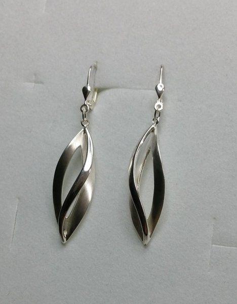 Vintage Ohrhänger - 925er Silberohrhänger Ohrringe Matt-Silber SO184 - ein Designerstück von Atelier-Regina bei DaWanda