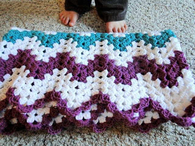 Free Crochet Ripple Afghan Patterns Crochet Afghans Chevron