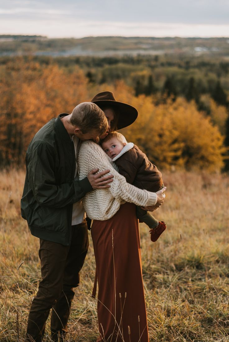 My sunset Alberta fall family photos — Bridge & Boulder Family photography