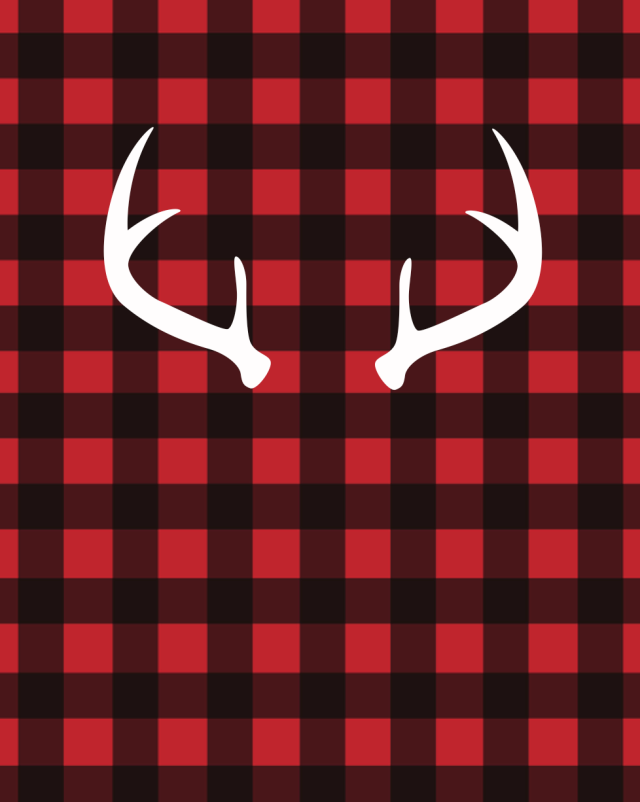 white antlers on red buffalo plaid free printable ...