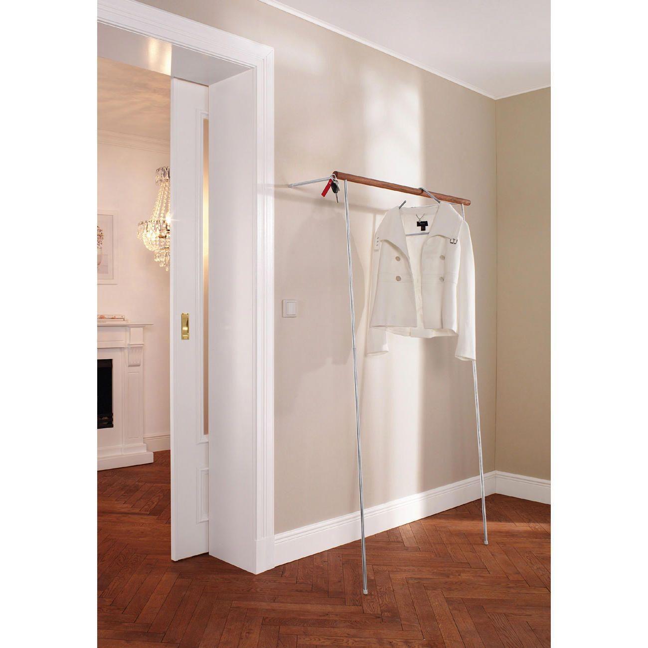 garderobe zum anlehnen im handumdrehen aufgestellt ohne. Black Bedroom Furniture Sets. Home Design Ideas
