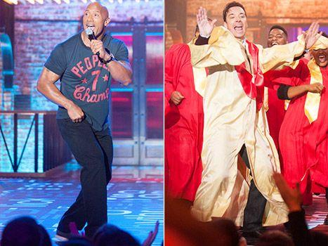 the rock s taylor vs jimmy s madonna who won lip sync battle
