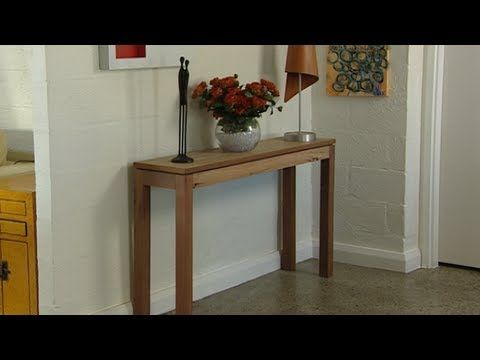 How To Make A Console Table Youtube We Show You How To Make A Hall Table From Recycled Bits Of Wood In This Diy Proje Hall Table Diy Console Table Table