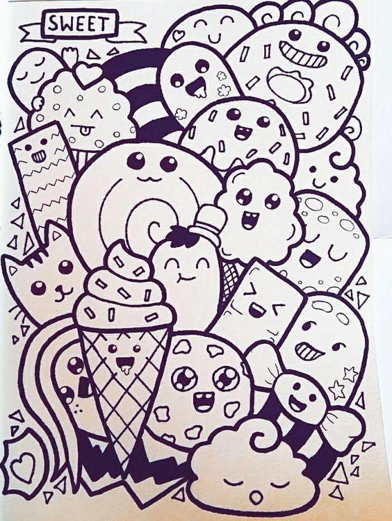 Kawaii Coloringbook Coloringpages Printablecoloringpages Coloringsheets Click This Pin For More Kawaii Doodle Art Drawing Cute Doodle Art Doodle Drawings