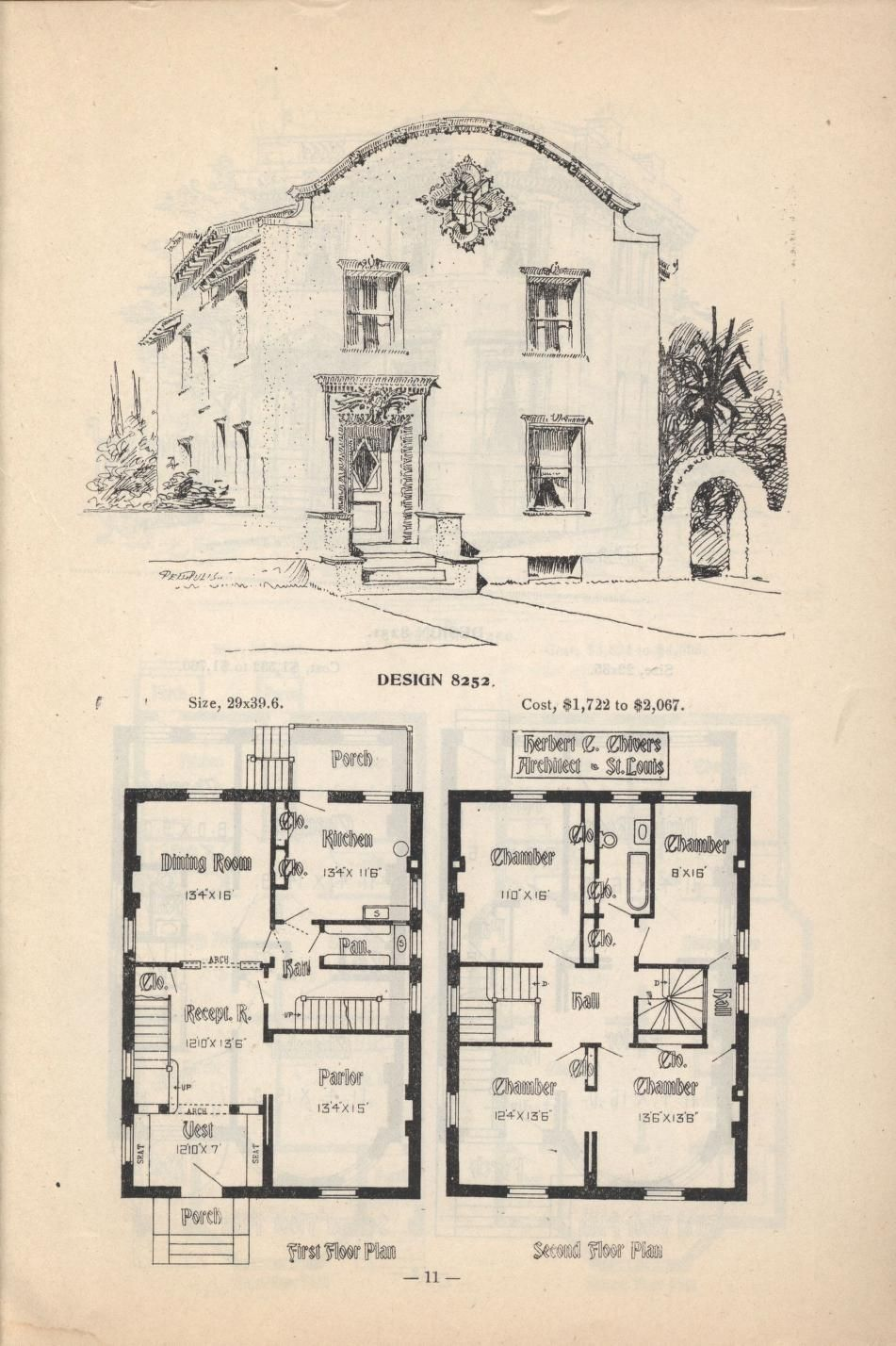 Artistic City Houses No 43 Colonial House Plans Spanish Colonial Homes House Plans