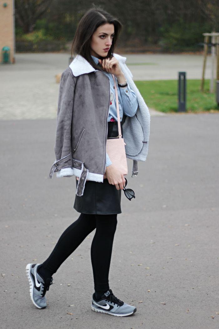 Bleistiftrock Leder Outfit