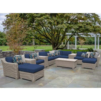rosecliff heights dupuis 14 piece sectional set with cushions rh co pinterest com