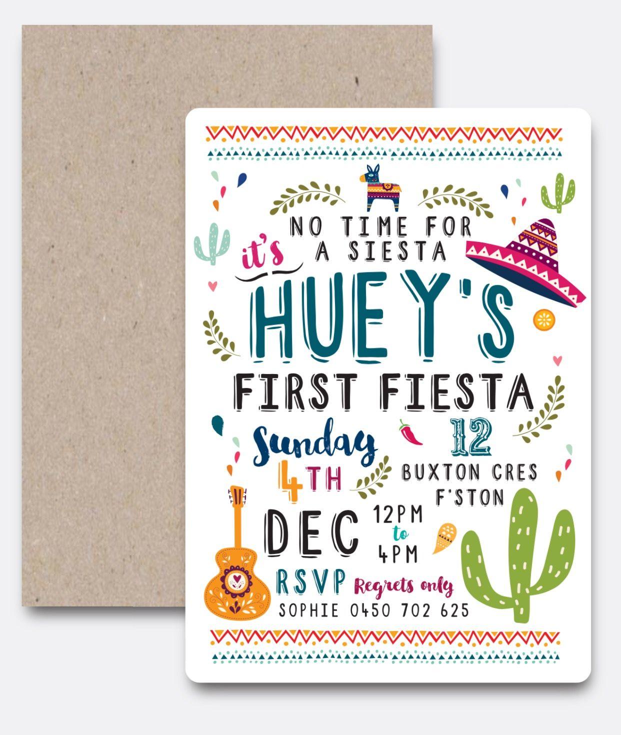 FIESTA Invitation Set   Screenshots   Pinterest   Fiestas, Custom ...