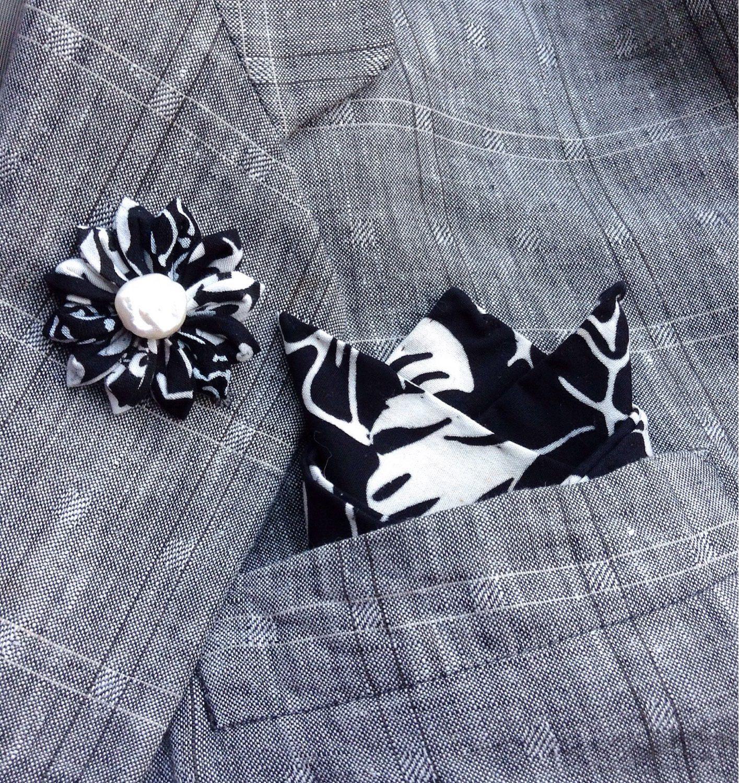 Custom lapel pins mens lapel pin flower lapel flower black white custom lapel pins mens lapel pin flower lapel flower black white pocket square set boutonniere boyfriend mightylinksfo