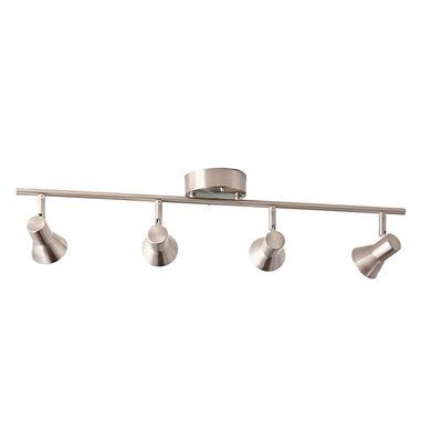 Style Selections Seekott 4 Light Brushed Nickel Dimmable Integrated Led Fixed Track Kit