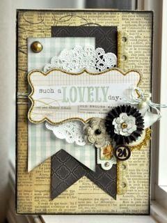 #papercraft #card handmade card, pendants, doily, flowers, Lovely by JodyR at Studio Calico