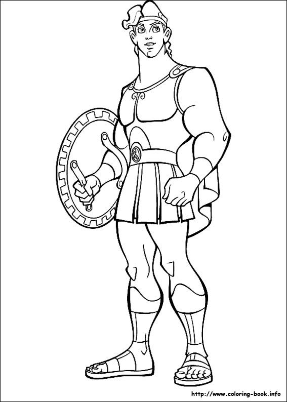 Hercules coloring picture | Disney Coloring Pages | Pinterest