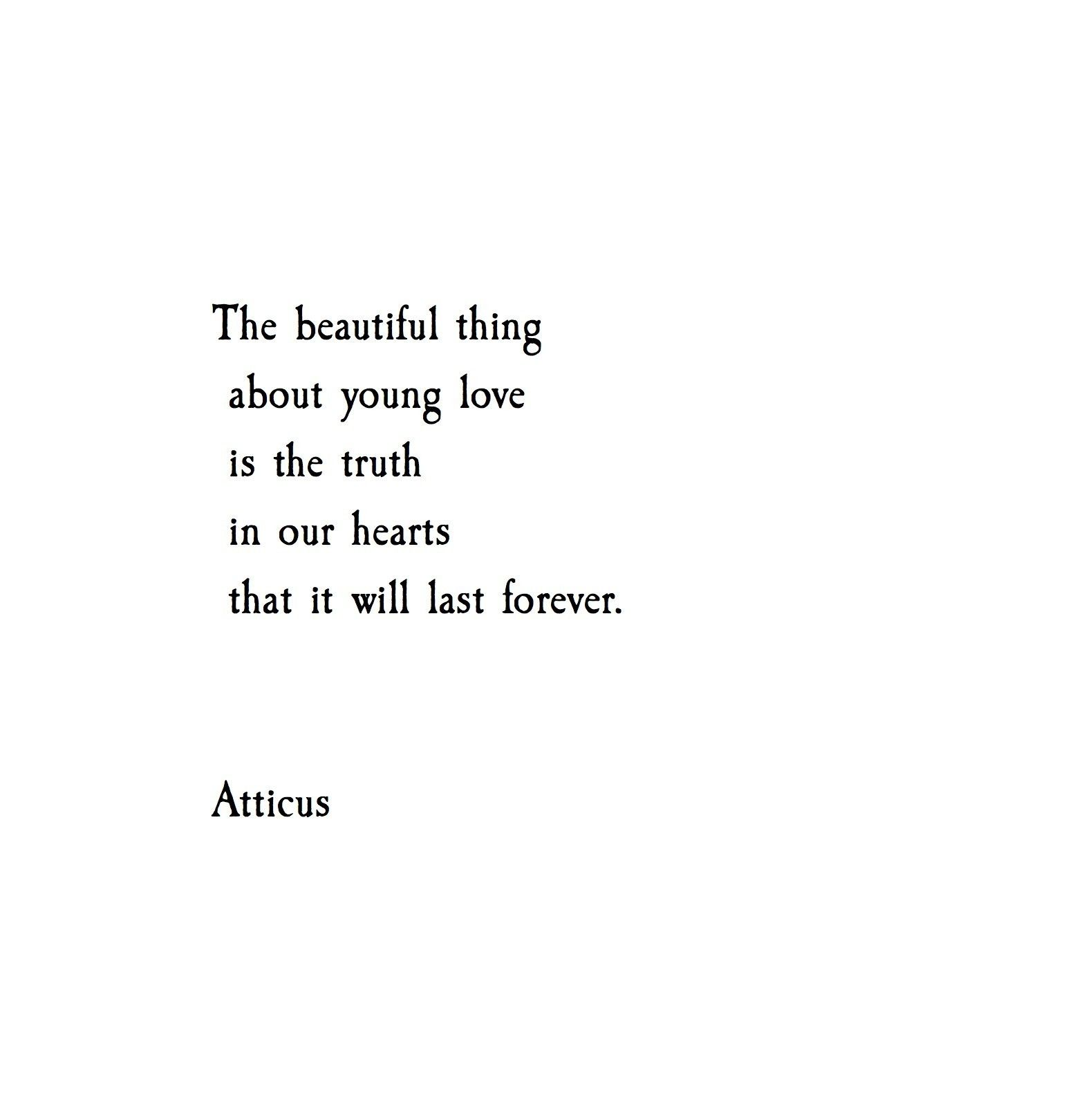 Quotes About Young Love: 'Young Hearts' @atticuspoetry #atticuspoetry