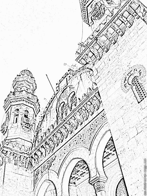 Coloriage Mosquee 01 à imprimer pour les enfants - Algerie ...