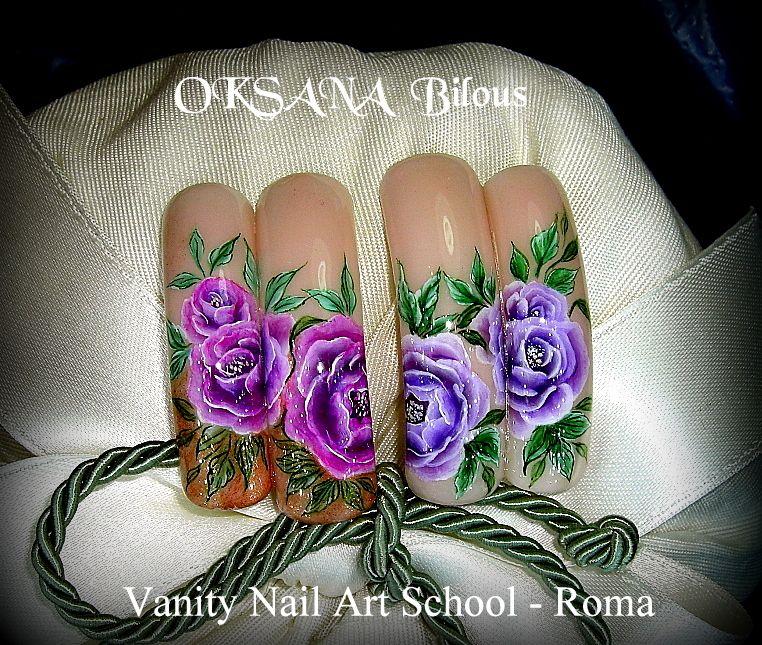 Diy Nail Ideas Doc Martens Nail Art And More Of Our: ...Rose In Gel E Con Colori Acrilici....