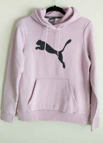 f31b25e872ca Puma-Women s-Cat -Logo-Hooded-Sweatshirt-Winsome-Orchid-Size-Large-New-with-Tags