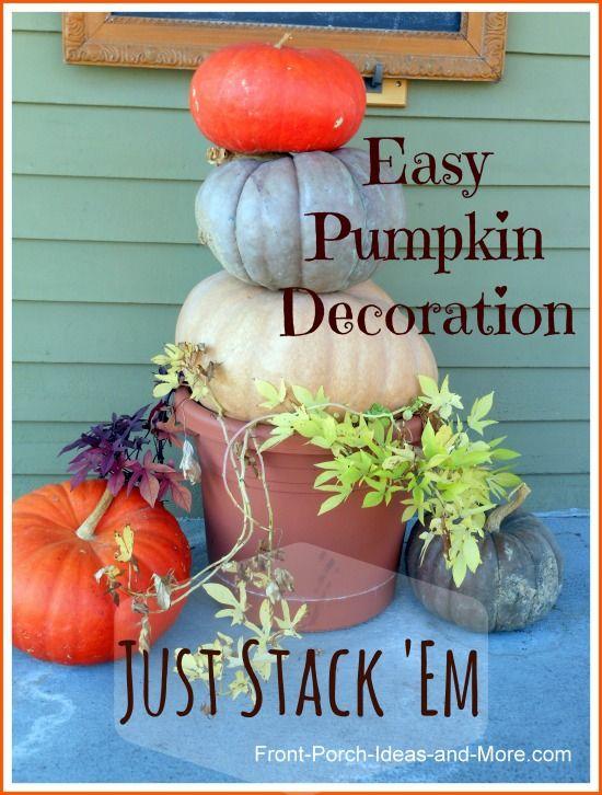 Pumpkin Decorating Ideas for Your Autumn Decorating Front porches