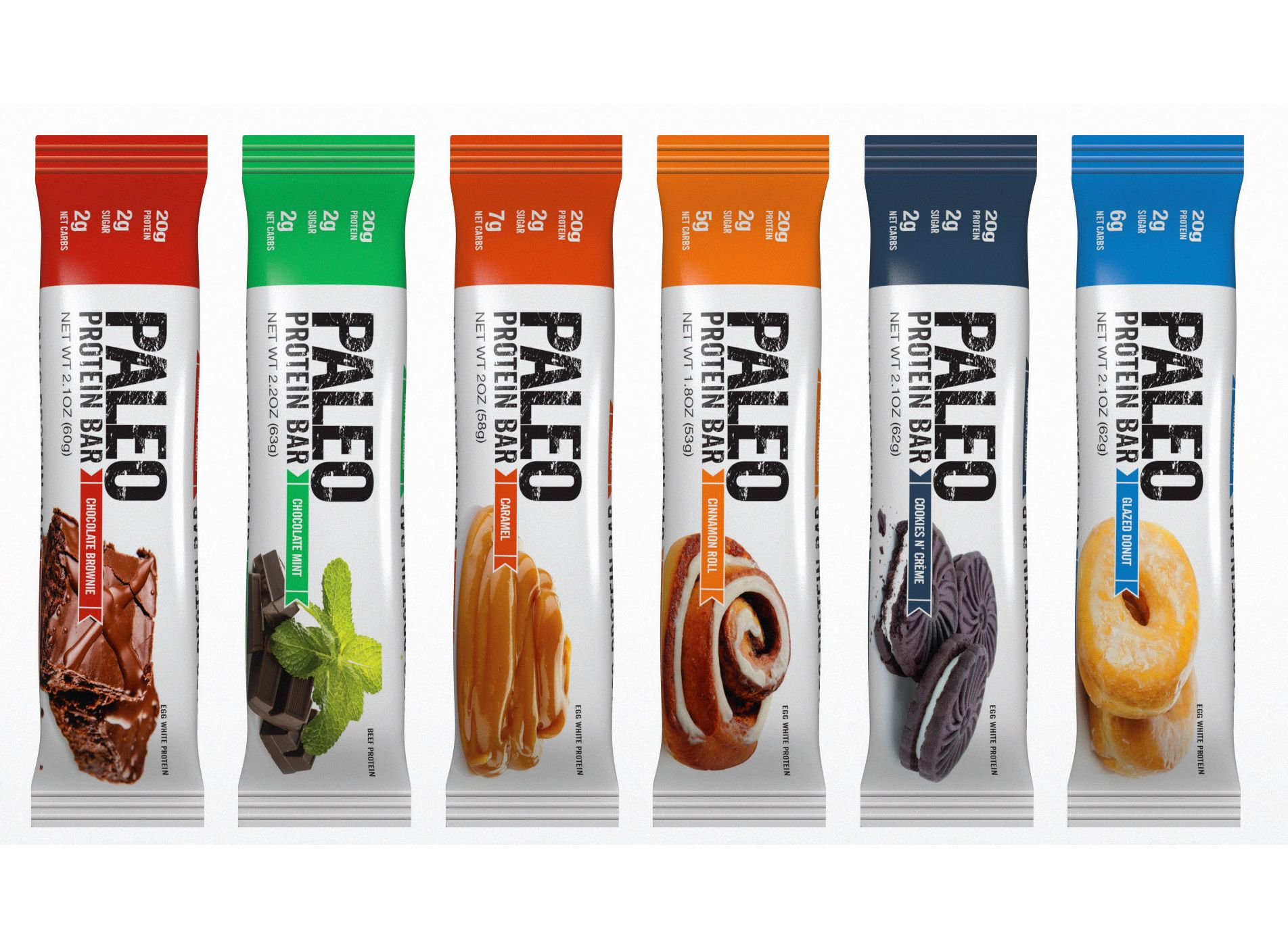 Paleo Protein Bars™ have 20g Protein (Egg Whites), Low