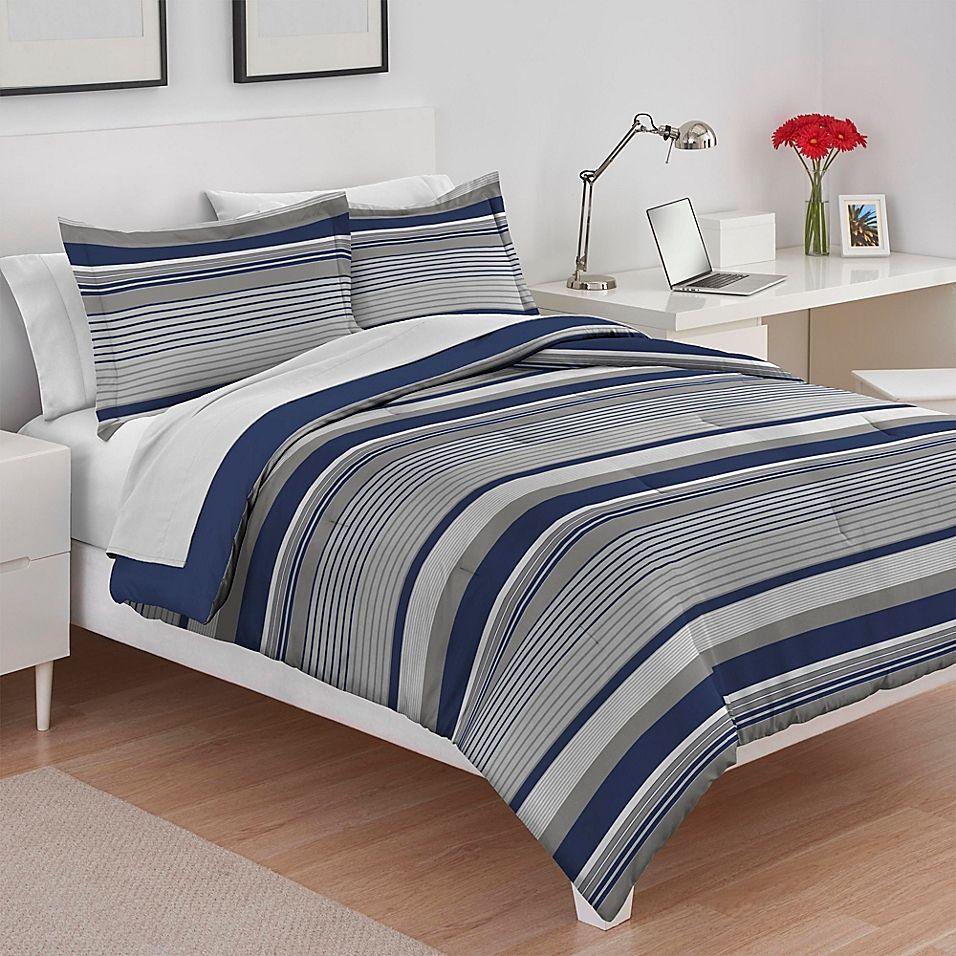Izod Collegiate Stripe Reversible Twin/twin XL Comforter