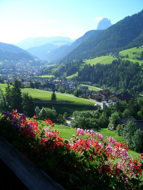 View from our room in Ortisei Sankt Ulrich, Italy