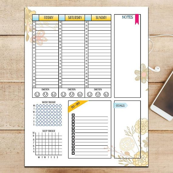 Be efficient with your planning by having your weekly and daily log