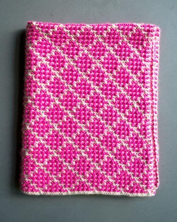 Manta de mosaico   Purl Soho   mantas tejidas con dos agujas ...
