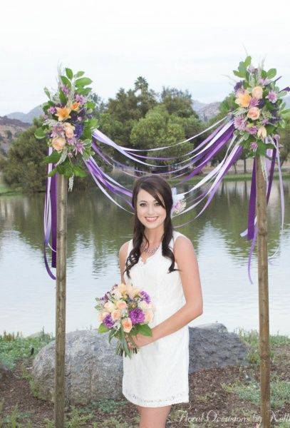 Lindo Lake Photo Shoot With Karissa Outdoor Wedding Ceremony Arch Wedding Arch Frugal Wedding